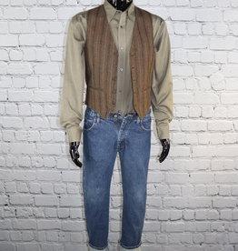 Unknown Brand: Striped Brown Vest
