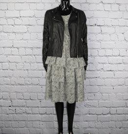 Leslie Fay: Grey Dress with Ruffles