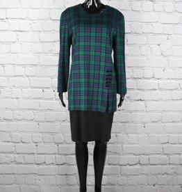 Lois Snyder Dani Max: Plaid Dress with Attached Skirt