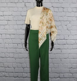 Talbots: Solid Green Britches