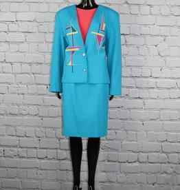 City Girl: Blue Skirt Suit
