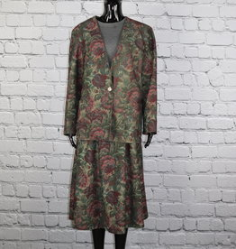 Inseparables: Fall Floral Skirt Suit