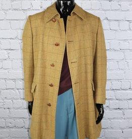 Zero King: Vintage Brown Plaid Wool Coat