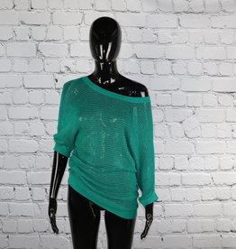 Express: 2000's Vintage Green Net Shirt for Gals