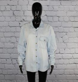 Love, Fire: 2000's Vintage Denim Shirt for Gals