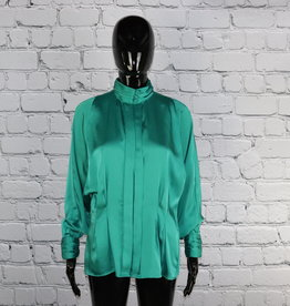 Tess: Vintage Green Blouse for Gals