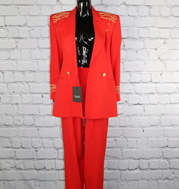 Solini: Vintage Red and Gold Britches Suit for Gals