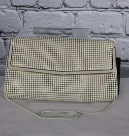 Andre Cellini: Lived-In Vintage Sequin Handbag with Metal Strap