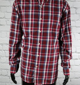 Chaps: 2000's Vintage Red, White and Blue Plaid Shirt for Guys
