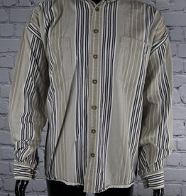 Basic Equipment: 1990's Vintage Striped Casual Shirt for Guys