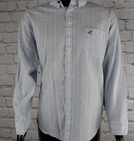 Raintree Southern: Vintage Blue and Pink Striped Casual Shirt for Guys