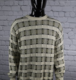 Christian Dior: 1980's Vintage Cable Multi-Color Sweater for Guys