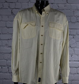 Catalina: 1990's Vintage Yellow Casual Shirt for Guys