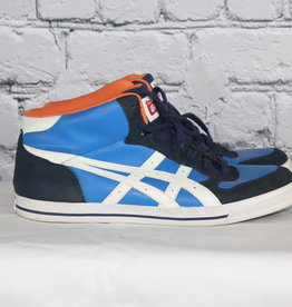 Onitsuka Tiger: Vintage Blue and White Kicks with Orange Inner Lining for Guys