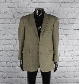 Bowen Bros. Clothiers: Vintage Grey  Herringbone Blazer with Brown Stripes for Guys