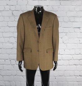 Brooks Brothers: Mid-Vintage Brown and Black Two-Button Blazer for Guys