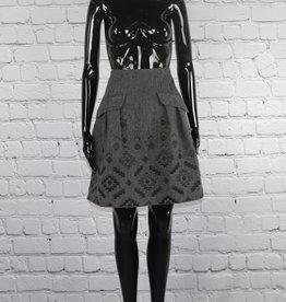Nanette Lepore: Vintage Grey and Black Wool Skirt