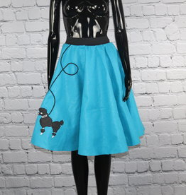Unknown Brand: *1950's Vintage Blue and Black Wool Poodle Skirt