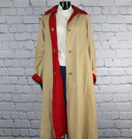 Bonnie Cashin: 1970's to 1980's Vintage Brown Trench Coat with Red Lining for Gals