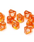 Chessex - CHX CLEARANCE - 10-Die d10 Set Orange w/white Translucent