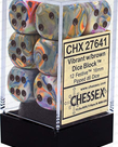 Chessex - CHX 12-die 16mm d6 Set Festive Vibrant w/ Brown