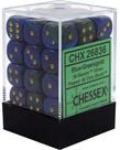 Chessex - CHX 36-die 12mm d6 Set Blue-Green w/gold Gemini
