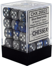 Chessex - CHX 36-die 12mm d6 Set Blue-Silver w/white Gemini