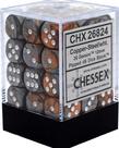 Chessex - CHX 36-die 12mm d6 Set Copper-Steel w/white Gemini
