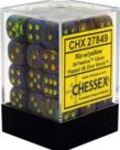 Chessex - CHX 36-die 12mm d6 Set Festive Rio w/ Yellow
