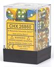 Chessex - CHX 36-die 12mm d6 Set Masquerade - Yellow w/ White