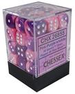 Chessex - CHX 36-die 12mm d6 Set Pink-Purple w/White Gemini