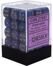 Chessex - CHX 36-die 12mm d6 Set Purple w/gold Lustrous