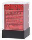 Chessex - CHX 36-die 12mm d6 Set Red w/black Opaque