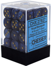 Chessex - CHX 36-die 12mm d6 Set Royal Blue w/gold Scarab