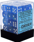 Chessex - CHX 36-die 12mm d6 Set Sky Blue w/ white Borealis