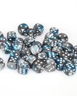 Chessex - CHX 36-die 12mm d6 Set Steel-Teal w/White Gemini