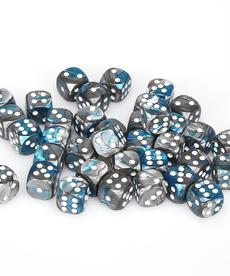 Chessex - CHX 36-die 12mm d6 Set Steel-Teal w/White Gemini