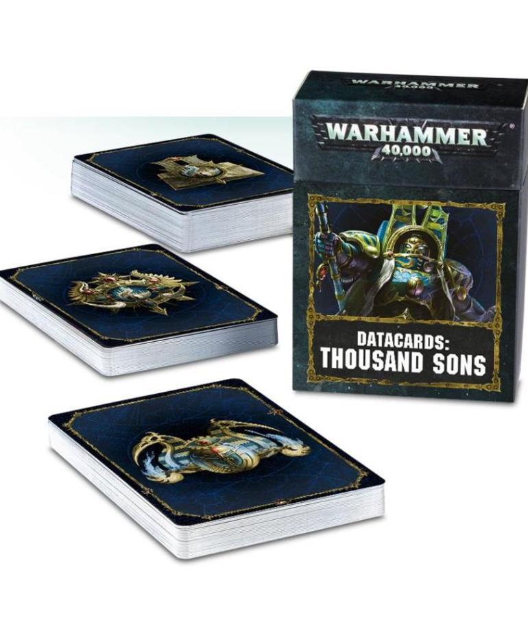 Games Workshop - GAW Warhammer 40k - Datacards: Thousand Sons
