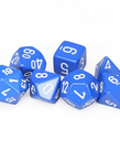 Chessex - CHX 7-Die Polyhedral Set Blue w/white Opaque