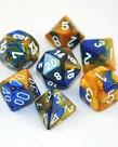 Chessex - CHX 7-Die Polyhedral Set Blue-Gold w/white Gemini