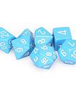 Chessex - CHX 7-Die Polyhedral Set Light Blue w/white Opaque