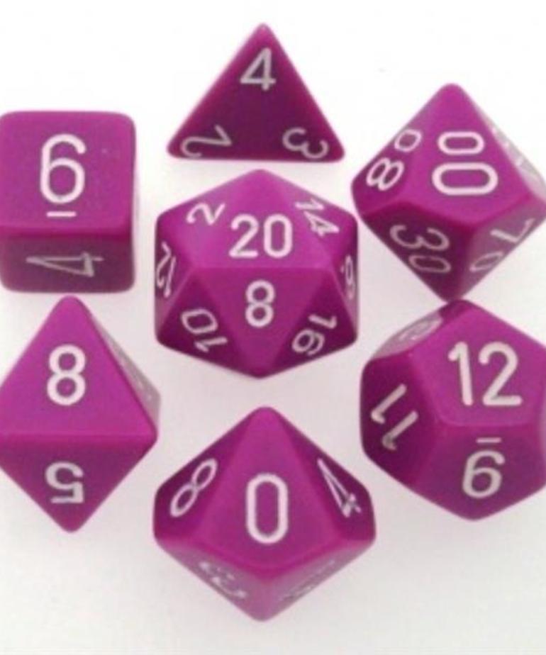 Chessex - CHX 7-Die Polyhedral Set Light Purple w/white Opaque