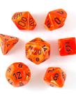 Chessex - CHX 7-Die Polyhedral Set Orange w/black Vortex