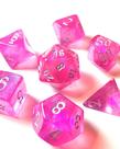 Chessex - CHX 7-Die Polyhedral Set Pink w/silver Borealis
