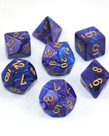Chessex - CHX 7-Die Polyhedral Set Purple w/gold Lustrous