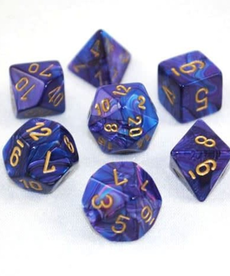Chessex - CHX 7-Die Polyhedral Set Purple w/gold Lustrous