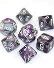 Chessex - CHX 7-Die Polyhedral Set Purple-Steel w/white