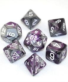 Chessex - CHX 7-Die Polyhedral Set Purple-Steel w/white