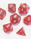 Chessex - CHX 7-Die Polyhedral Set Red w/white Frosted