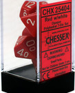 Chessex - CHX Chessex Dice - 7-Die Polyhedral Set - Opaque: Red w/White